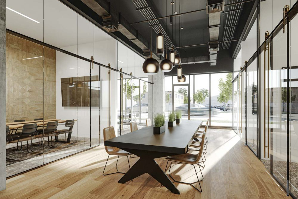 meeting room in houston apartment building