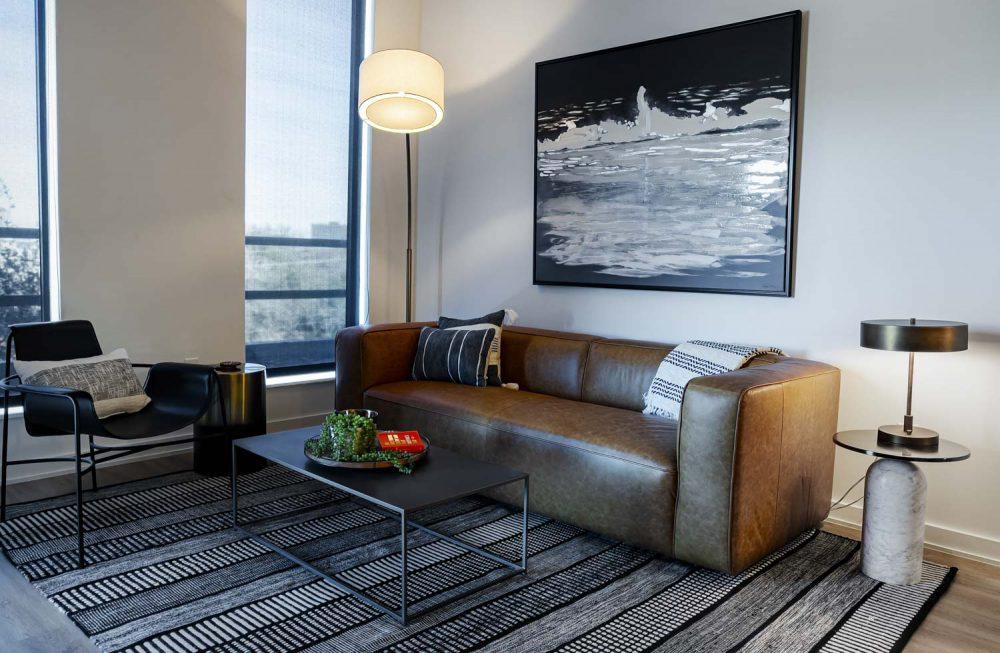 living room in houston apartment