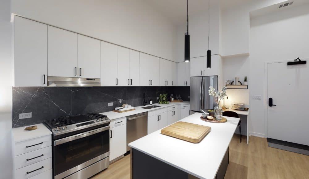 kitchen in houston apartment building
